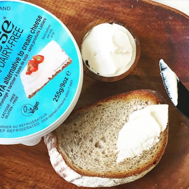 ヴィーガンチーズとライ麦パン2