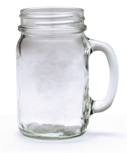 16oz MASON JAR DRINKING MUG
