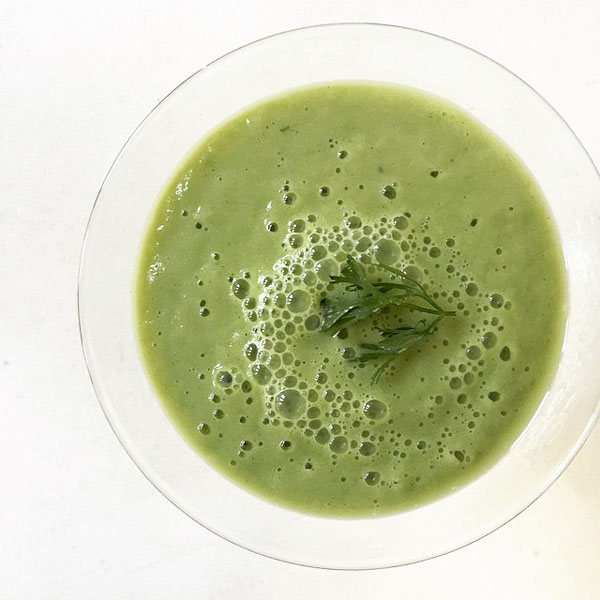 Chinese parsley and Pineapple Smoothie_600