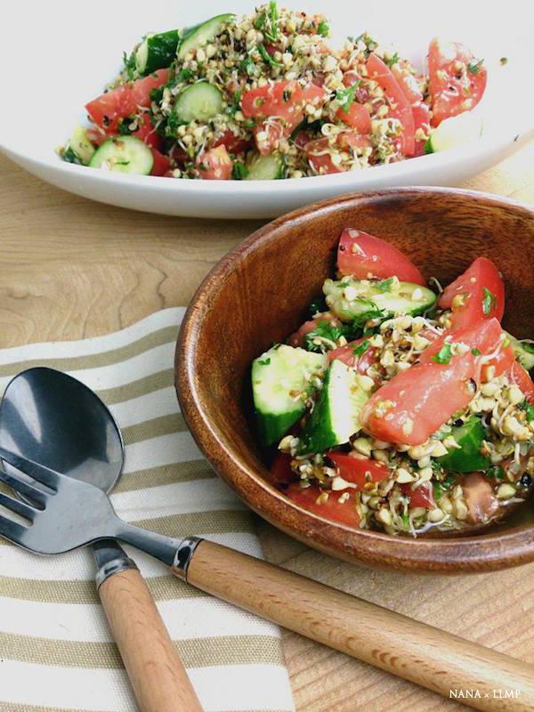 蕎麦の実スプラウトのヘンプサラダ