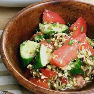 蕎麦の実スプラウトのヘンプサラダレシピ