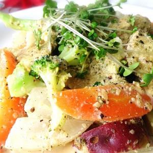 温野菜のヘンプソース和え