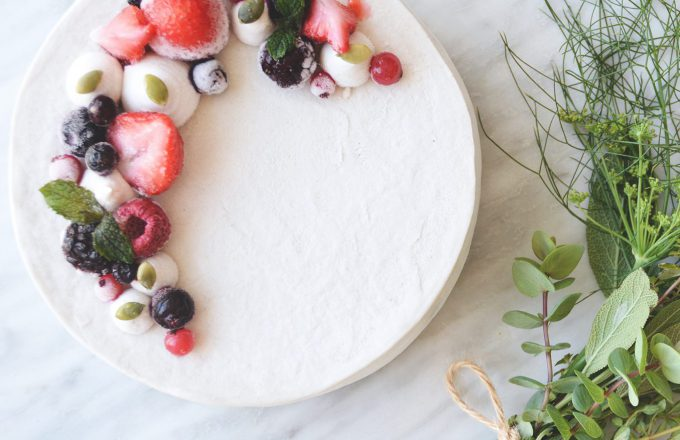 ローケーキをバースデーケーキに。